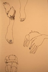 feet sad sketch
