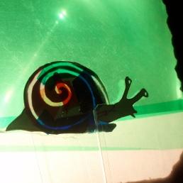 shadow puppet portrait on overhead projector. www.mindofasnail.org