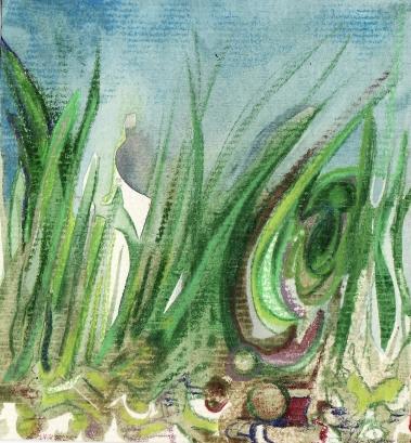 watercolour grass