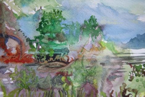 watercolour sketch, golden, 2013.