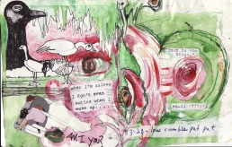 """am i you?"" collage, pen, pencil on paper. detail from ""open confusion"" zine, 2008.Jessica Gabriel."