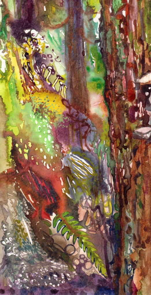 Undergrowth watercolour