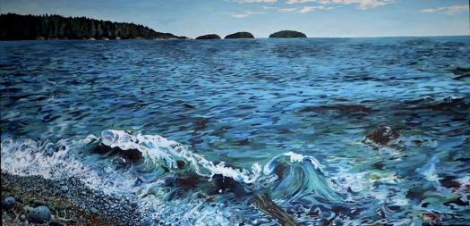 ocean painting full blur
